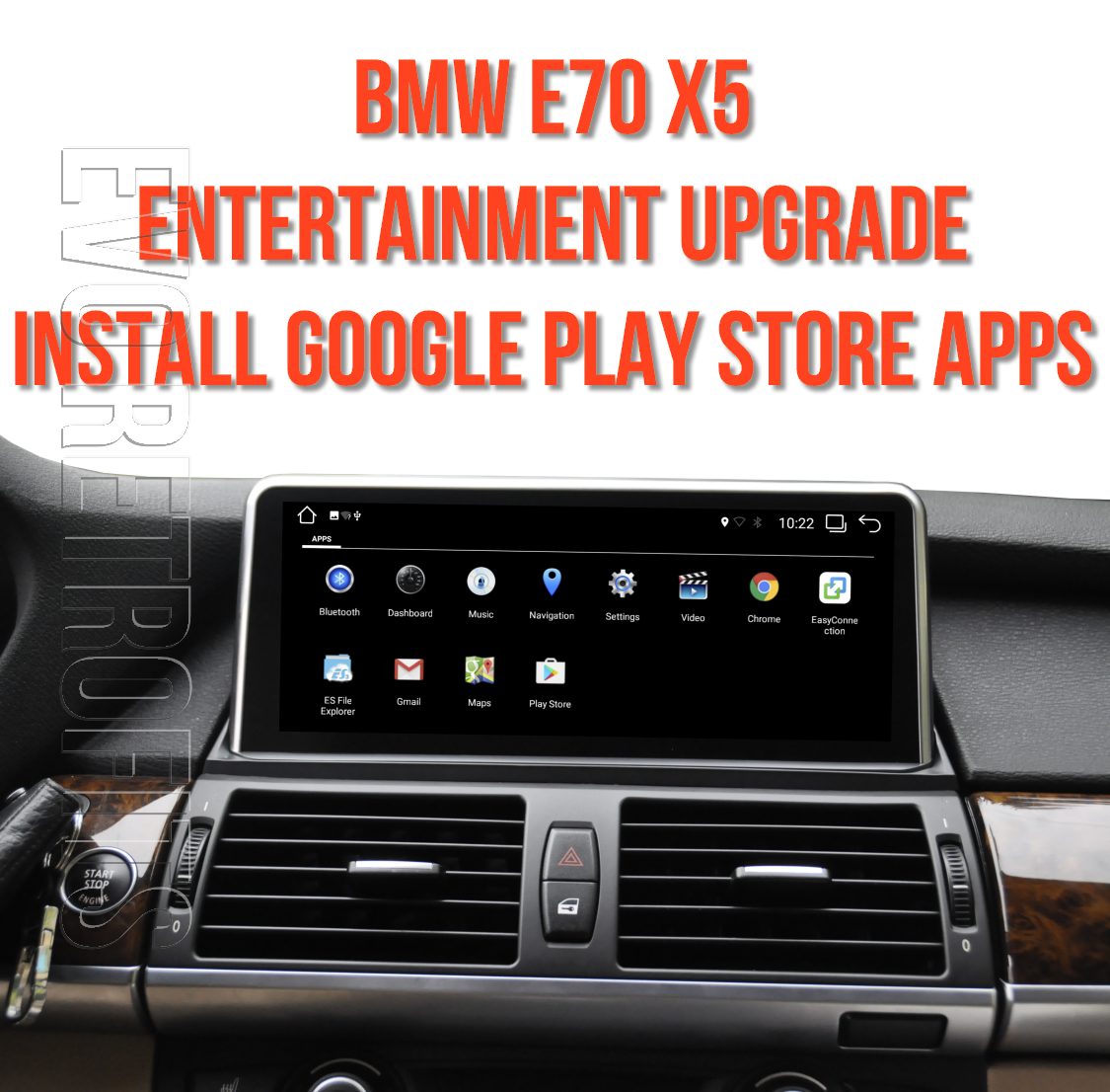 BMW X5 E70 (YEARS 2006-2013) FULL ENTERTAINMENT UPGRADE KIT BMW X5  NAVIGATION UPGRADE APPLE CARPLAY ANDROID AUTO